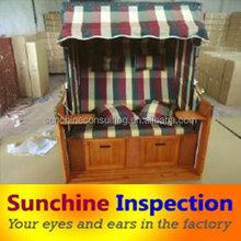 Strandkorb quality inspection/Strandkorb production inspection/Third party inspection service in China