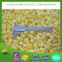 Peeled and diced IQF vegetable frozen potato