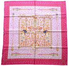 100% pure silk printed 70*70cm hand rolled hem scarf