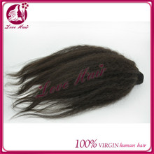 Manufacture Most Hottest black hair weave color 24 inch human braiding hair brazilian kinky straight hair size