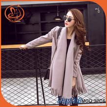 Abrigo de lana chaqueta de manga larga Stich abierta de la borla mantón del cabo del abrigo bufandas encanto capa Parka Poncho
