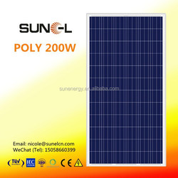 200 watt poly solar panel manufacturers in china SNM-P200(72)