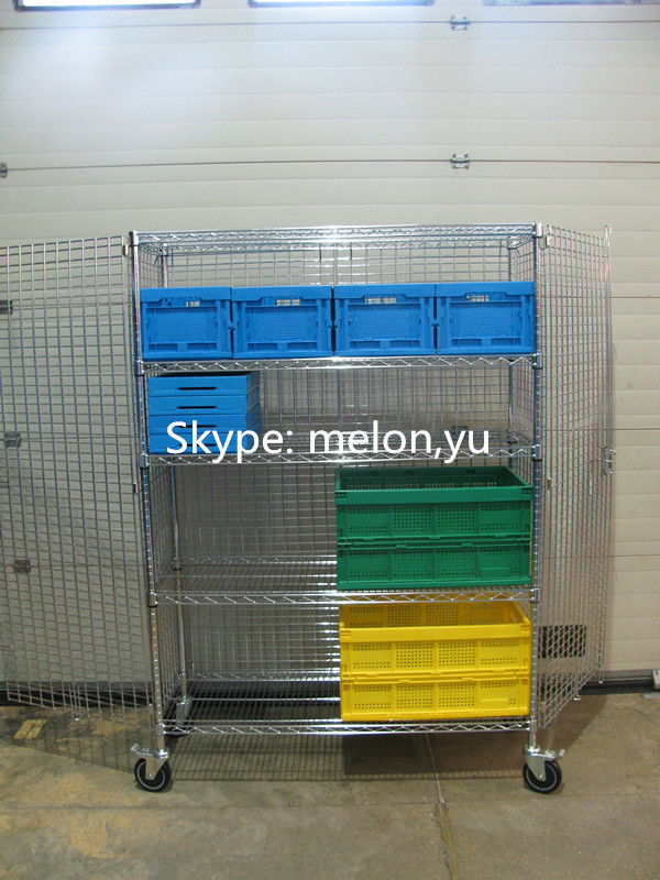Chrome Wire Mesh Security Cage For Clean Room,Wire Shelving Cage ...