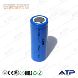 18500 high capacity rechargeable battery / li ion 18500 rechargeable 3.7v 1400mah / icr18500 3.7v
