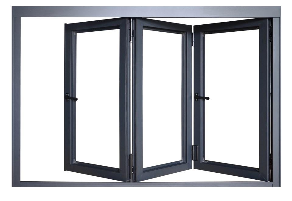 German Hardware Aluminum Interior Curved Folding Doors For Bathroom