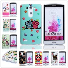 Owl Pattern IMD Craft TPU Case For LG G3 Mini, For LG G3 Mini soft case