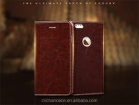 genuine leather stand wallet phone case cover for iphone 6 6plus CO-LTC-1044