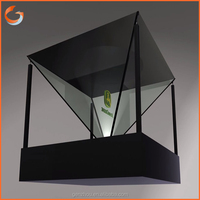 Holographic 3d holographic display showbox for new product launch factory