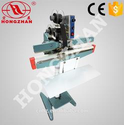 Hongzhan KS series easy operation foot impulse bag sealer with date print