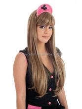 Cheap Light Brown straight Wig,long hair Synthetic wig party wig for women