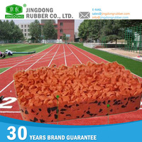 2015 the most durable synthetic waterproof polyurethane rubber running tracks