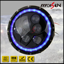 """New arrival real factory 7"""" round led headlamp with hi/lo beam and halo 4x4 7 inch 60w led off road headlight for jeep wrangler"""