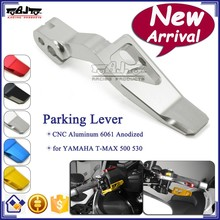 BJ-PL-YA001 Motorcycle Accessories CNC Aluminum Silver Parking Lever For Yamaha T-MAX500 530