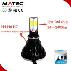 New arrival high power headlamp H4 H6 H7 excellent performance led driving lights motorcycle