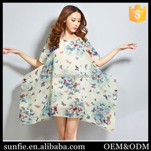 Latest Butterfly Printed maternity funny blouses sexy clothes for big women