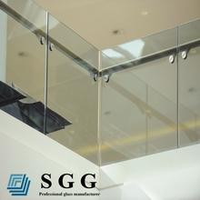 balustrades en verre trempé de haute qualité