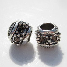 wholesale Antique Silver tone pony beads for jewelry making