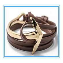 Yi Wu Fashion Jewelry Manufacturer Supply High polished Stainless Steel Anchor Bracelet