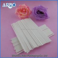 SGS MSDS and LFGB customized paper lollipop sticks