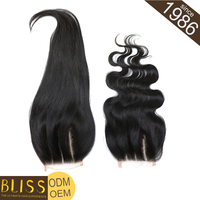 Large Stock Real Virgin Black Ponytail Women Hairpieces