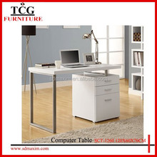 white high gloss computer desk