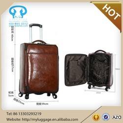 High-end PU leather Luggage suitcase with lower price