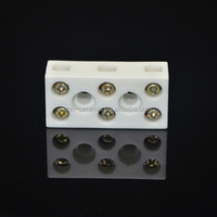 form stability steatite ceramic terminal block connector with mounting screw