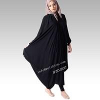 WEISHION muslim women dress butterfly abaya fashion baju muslim abayas