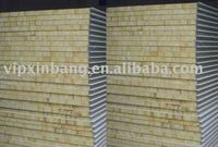 heat insulated and light weight 120mm wall V950 rock wool /mineral wool sandwich panel / rock wool composite panel for cold room
