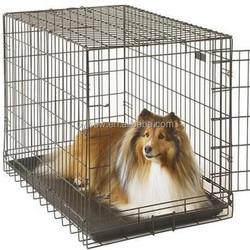 Durable Galvanized Metal Folding Dog Cage