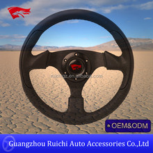leather personalized custom made race steering wheel