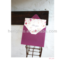 2014 customized competitive price with envelop promotion message greeting card