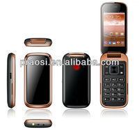 dual sim android system old man gps sos cell phone wcdma 3g flip phone for old age people