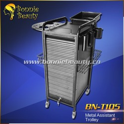 T105 Professional personal assistant metal hair salon trolley