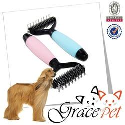 Gel grip handle dog grooming brush dog hair brush pet grooming