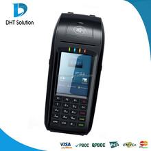 Mobile pos terminal,3G,Barcode,RFID,Printer,Finger print optional,supports Visa/Master card(DTPOS396)