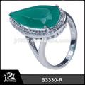 esmeralda piedra 925 anillo de plata anillo de la joyería al por mayor