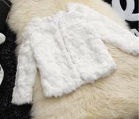 off -white lady winter fur clothes, fake fur coat