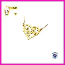 High quality friendship plated gold smile necklace for best friend