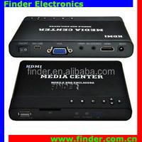 Protable media player hdmi input vga output media player