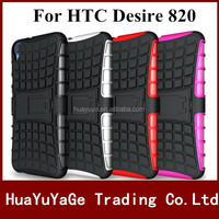 Rugged Hard TPU+PC Robot Phone cases Back Cover Stand Holder kickstand case for HTC Desire 820