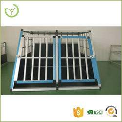 2015 Outdoor/indooor Cheap aluminum dog cage with double doors wholesale