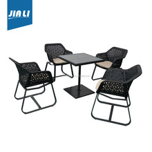 High Quality factory directly outdoor pe rattan garden courtyard hotel balcony dining table set