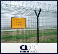 Galvanized steel Airport fence/Barbed wire fence/Best price wire