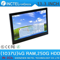Hot selling All-in-One touchscreen PC pos with Intel Dual Core D2550 1.86Ghz CPU 4G RAM 250G HDD