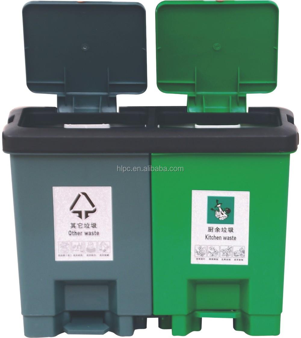 15*2l twin abfallbehälter für sale werbung mülltonne küche paddel