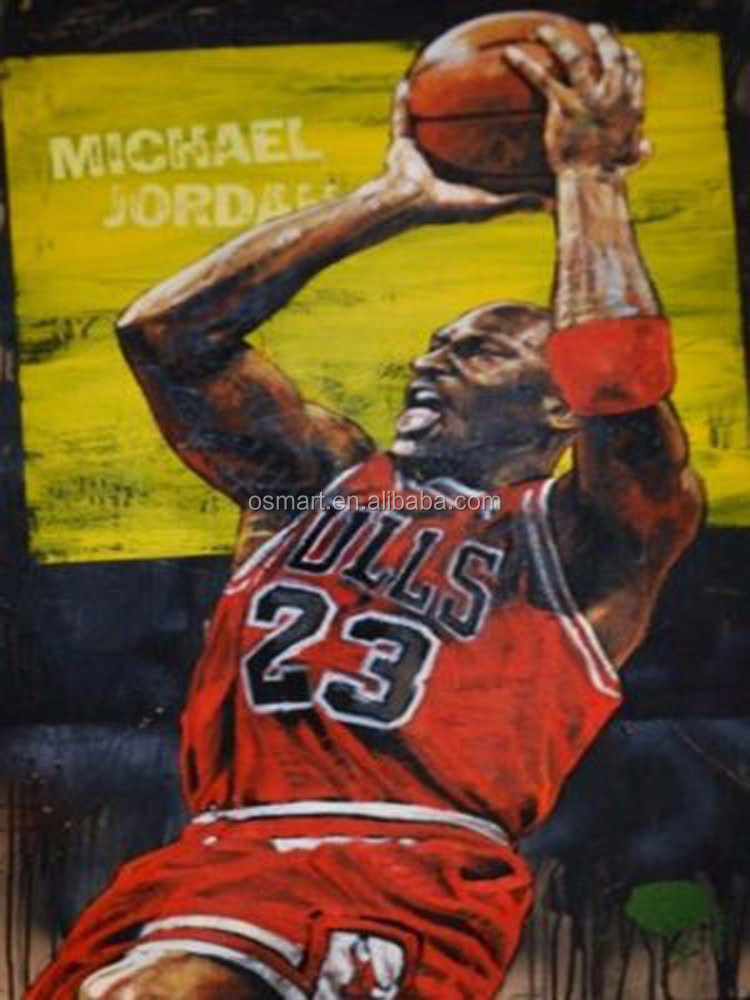 Basketball Oil Painting Oil Painting on Canvas