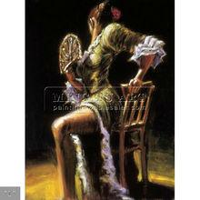 100% Hand painted spanish dancer paintings oils on canvas,Flamenco
