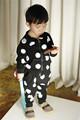 2015 niñas sistemas de la ropa de bebé little baby cat girl and boy cotton fijado de manga larga