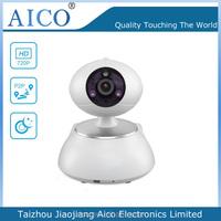 cn AICO 2015 hot smart home white dome megapixel p2p 720p 360 wireless wifi webcam with remote control